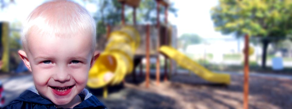 Smiling on the playground