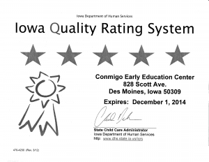 Iowa Quality Rating System - Level 5 Rating
